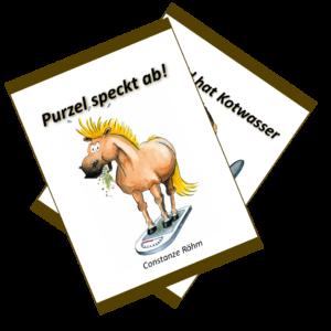 Purzel speckt ab, Rashid hat Kotwasser, Fachbücher über Pferdeernährung